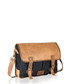 Denim & tan vintage leather satchel Sale - woodland leathers Sale