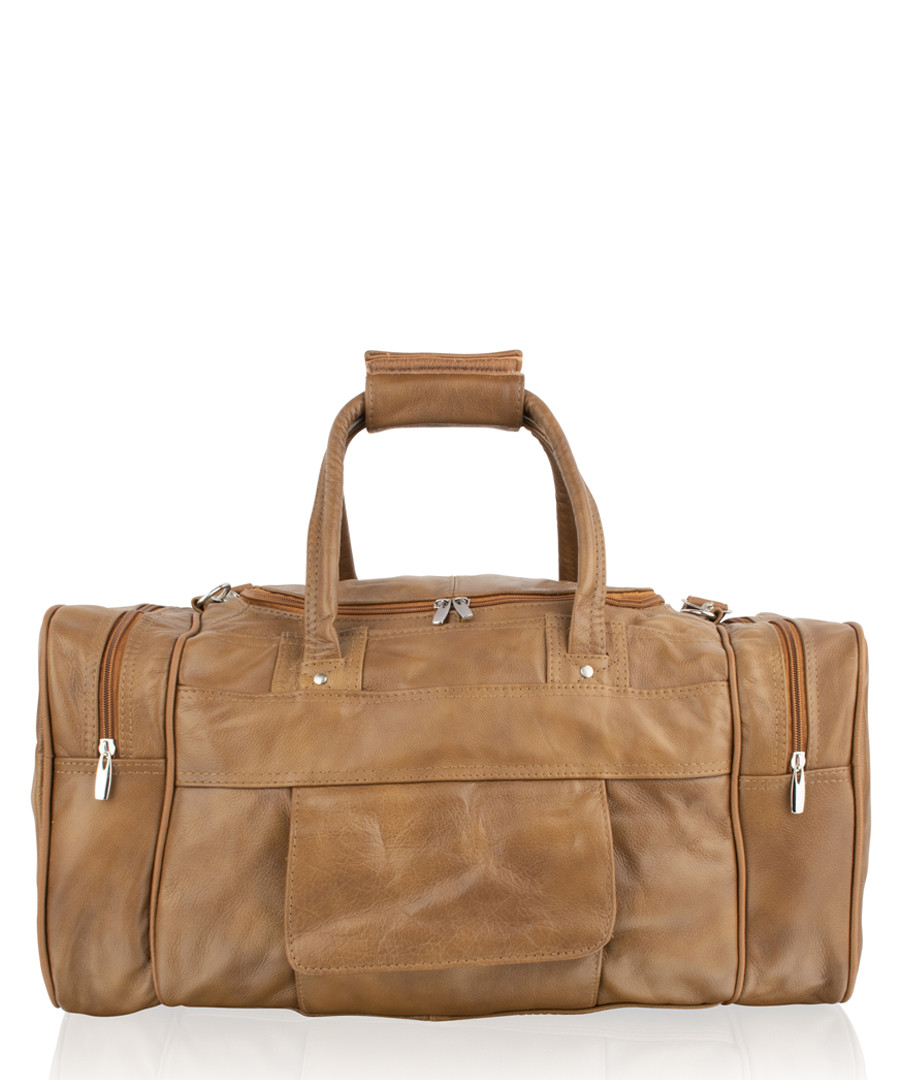 Tan leather weekend bag Sale - woodland leathers
