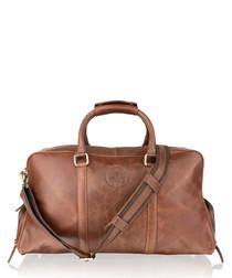 Tan leather weekend bag