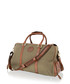 Khaki & tan leather weekend bag Sale - woodland leather Sale