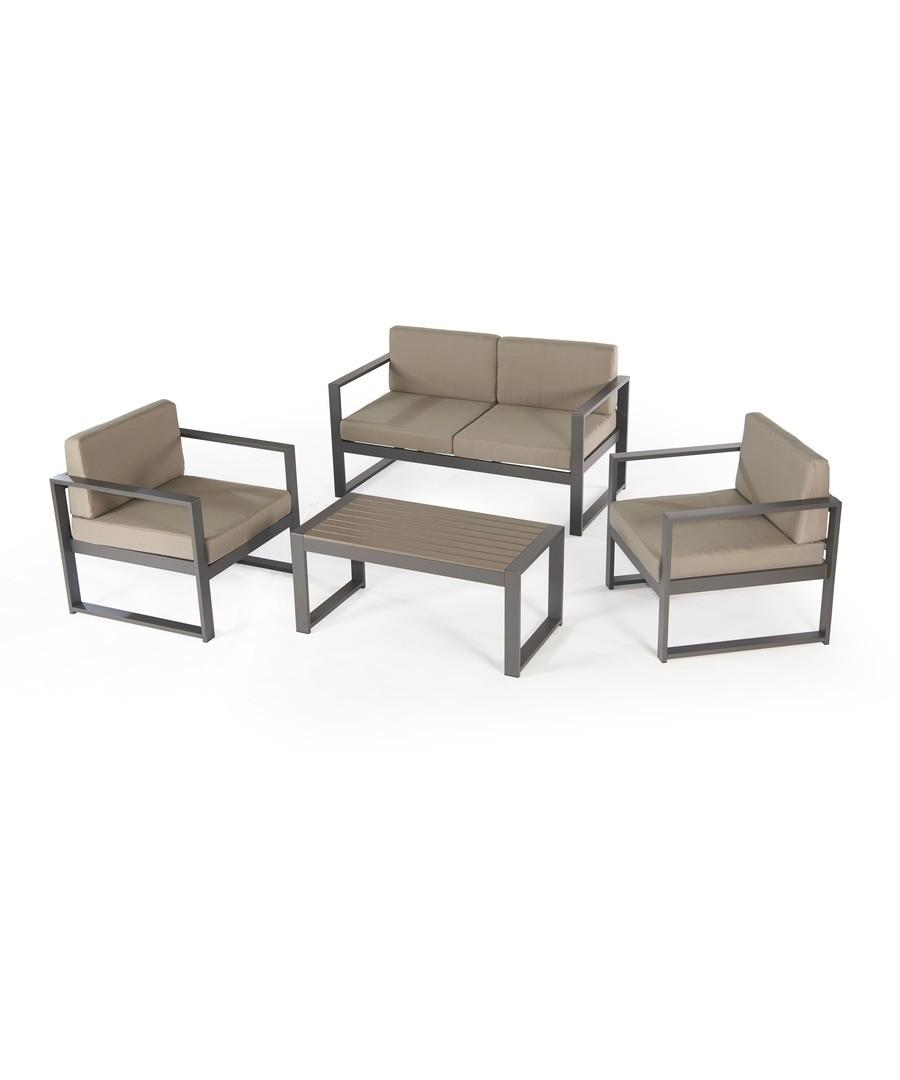 San Remo 4Pce Aluminium Sofa Set with Cushions Sale - Greenhurst