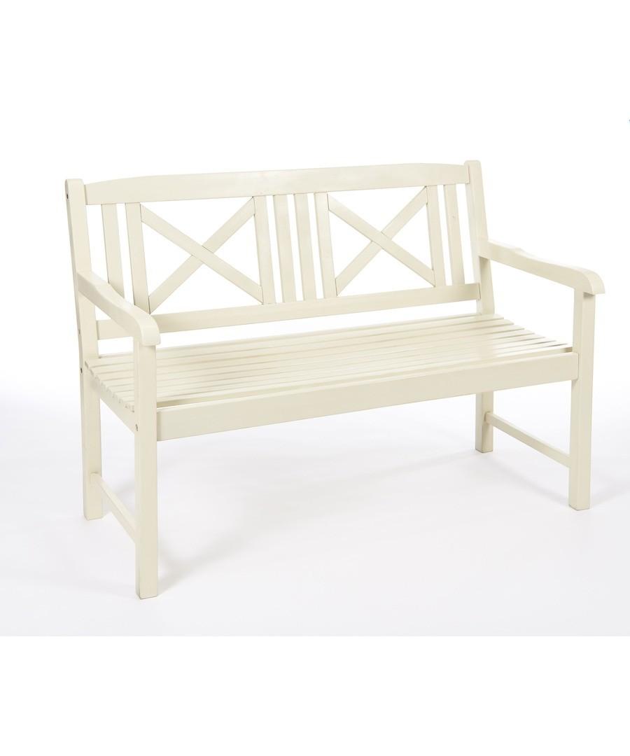 Saigon Hardwood Bench Antique White Sale - Greenhurst