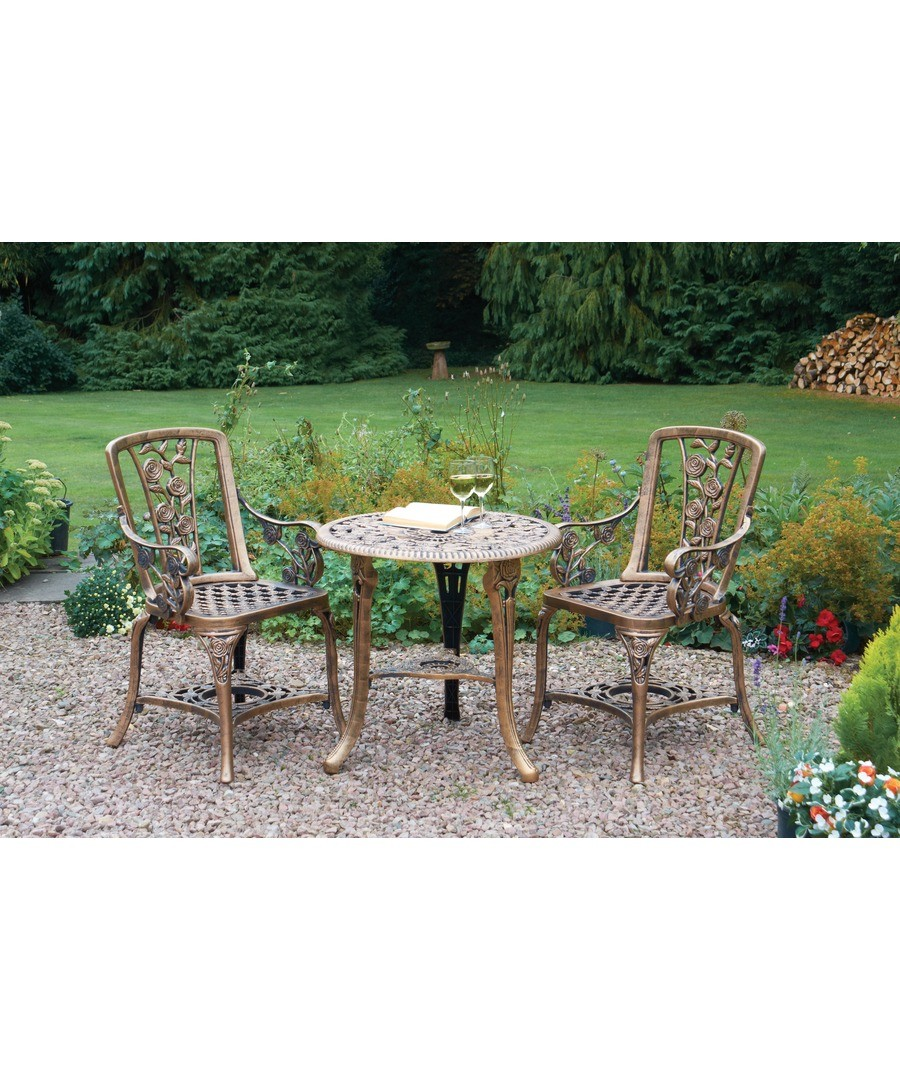 3pce Rose Armchair Patio Set Bronze Sale - Greenhurst