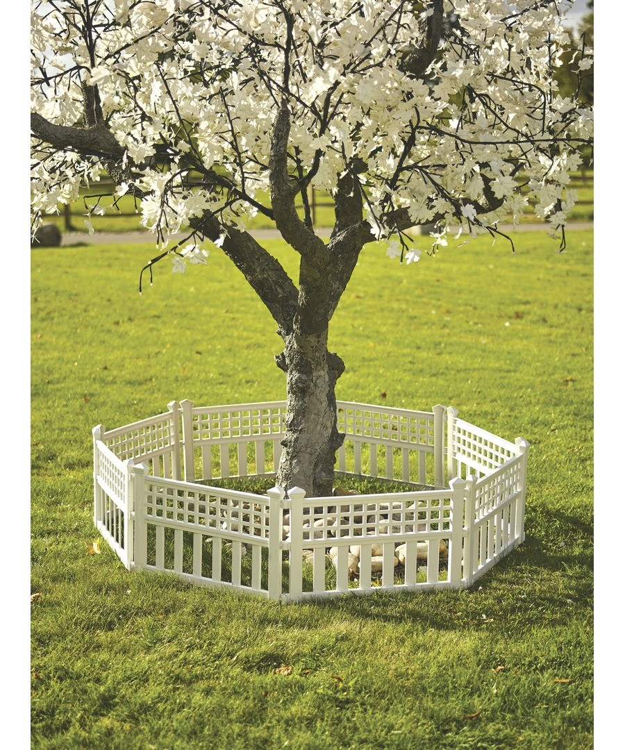 Pk of 4 Plastic Fence Panels White Sale - Greenhurst