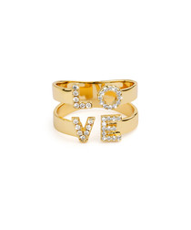 gold-plated love duo ring