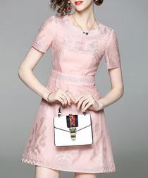 Blush pink A-line mini dress