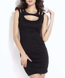 Black cut-out mini dress