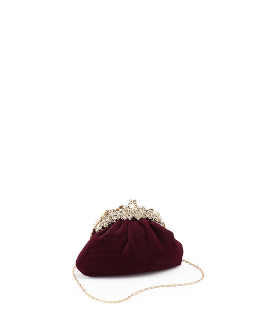 Harlam burgundy embellished crossbody Sale - joe browns