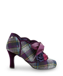 Yazzabelle multi-check ribbon heels