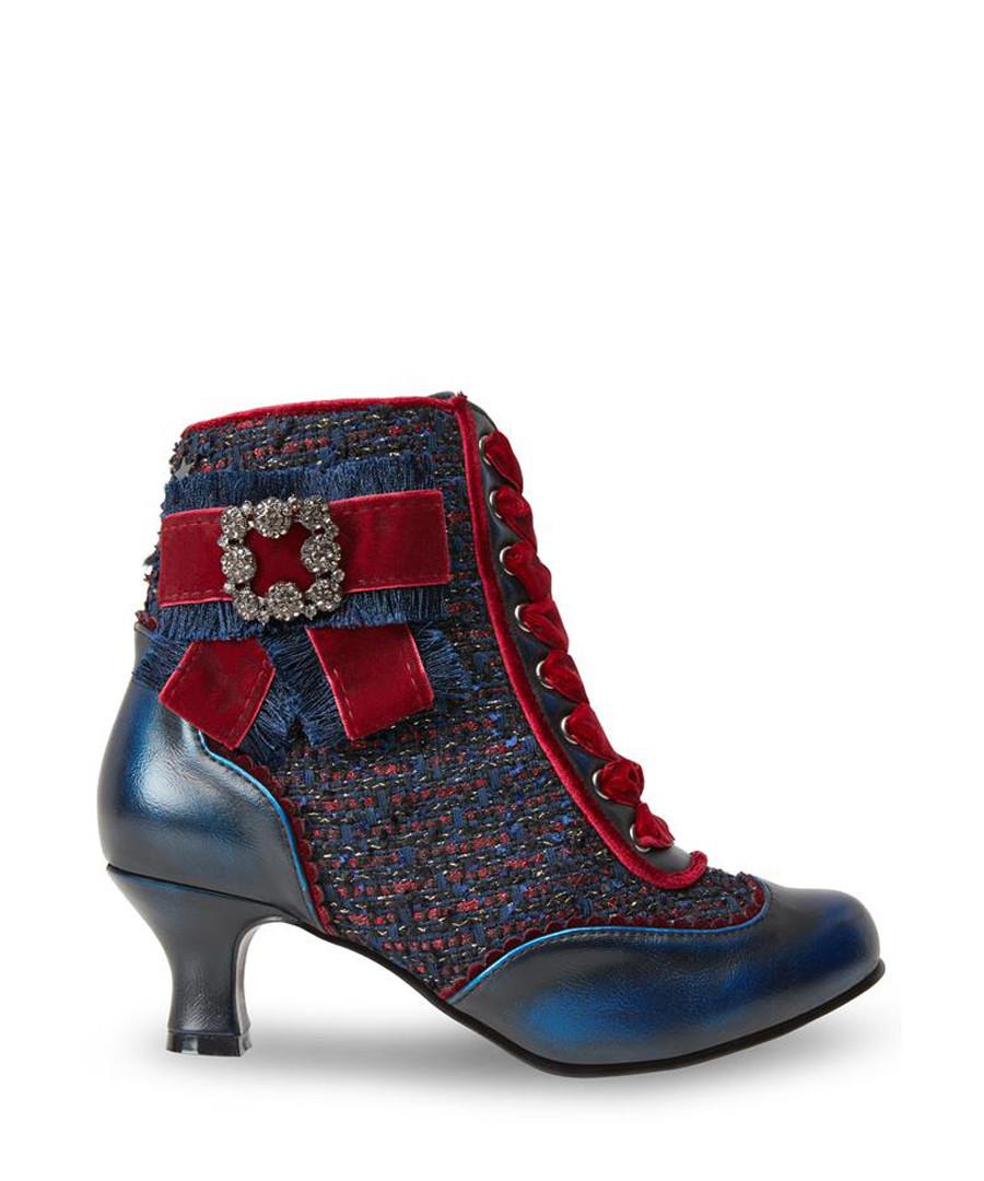 Duchess blue & red crystal brooch heels Sale - joe browns