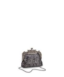 Mystery black & silver embellished bag