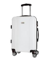 Kirwee white suitcase 56cm