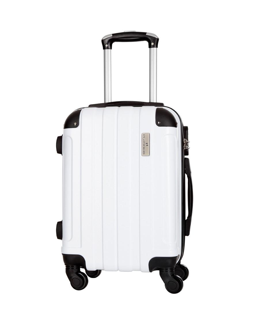 Delos white suitcase 56cm Sale - platinium