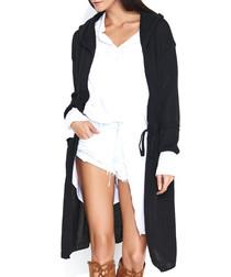 Black longline cardigan