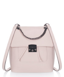 Rose leather backpack