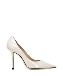 Love linen patent leather court heels