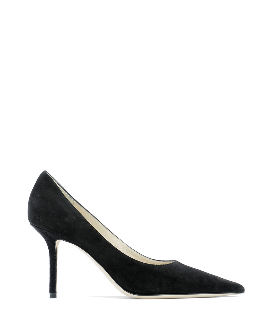 Love black suede court heels Sale - jimmy choo