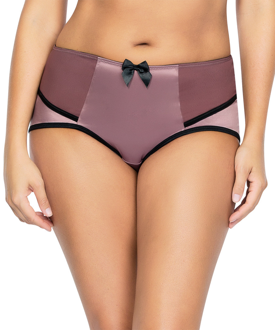 dusty pink and black highwaist brief Sale - parfait