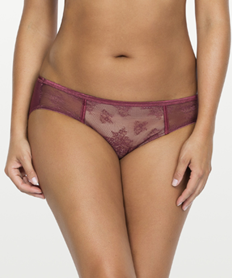 Merlot lace hipster briefs Sale - parfait
