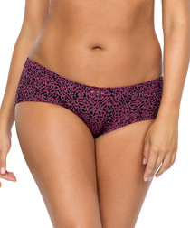 Animal print hipster briefs