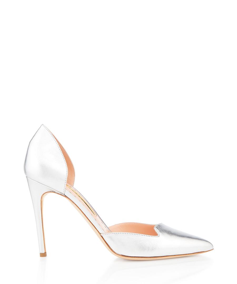 silver-tone nappa leather court heels Sale - Rupert Sanderson
