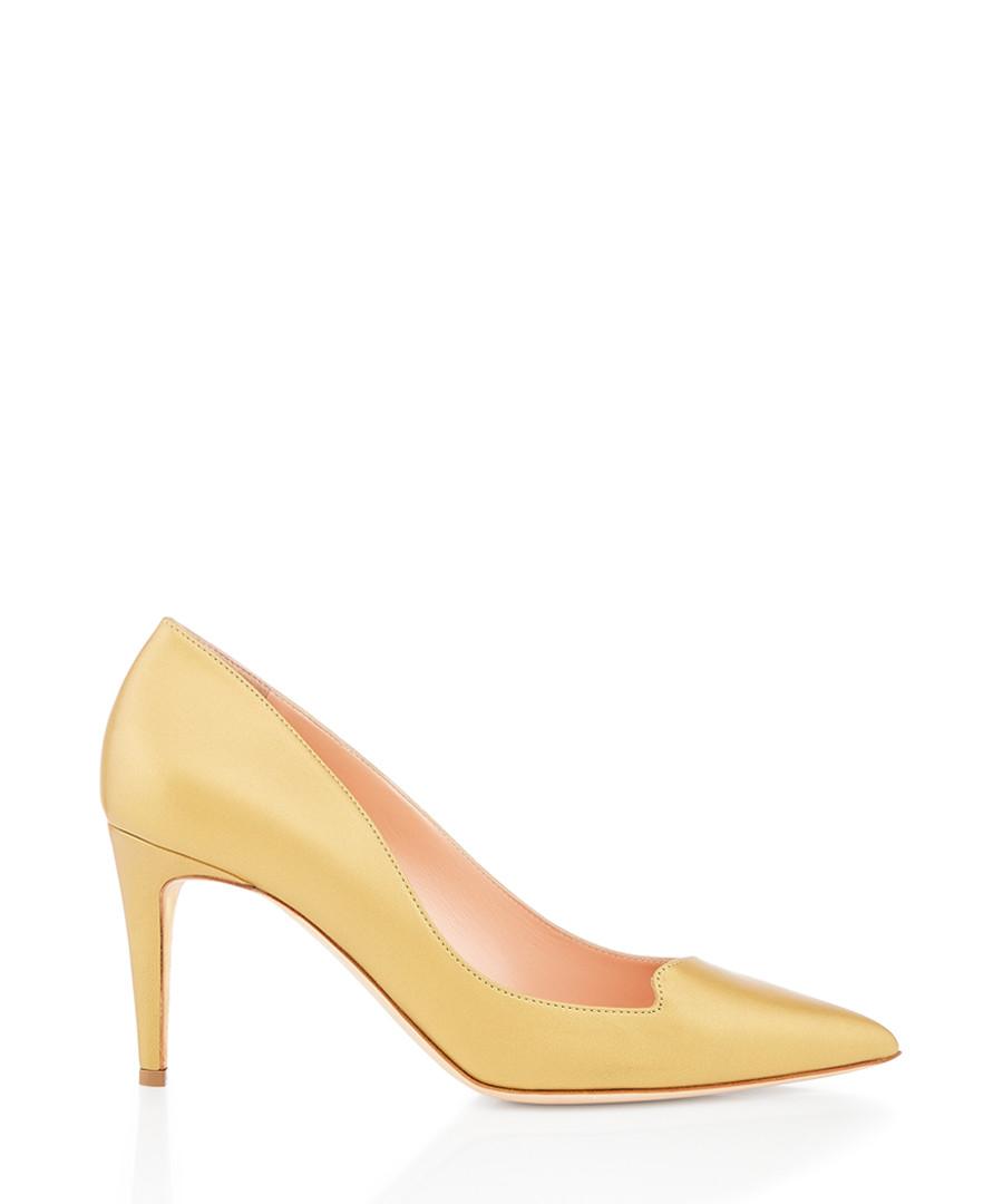 Murcia gold-tone nappa court heels Sale - Rupert Sanderson