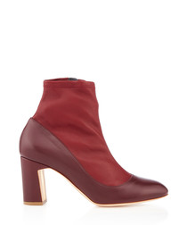Tamora prune nappa leather ankle boots
