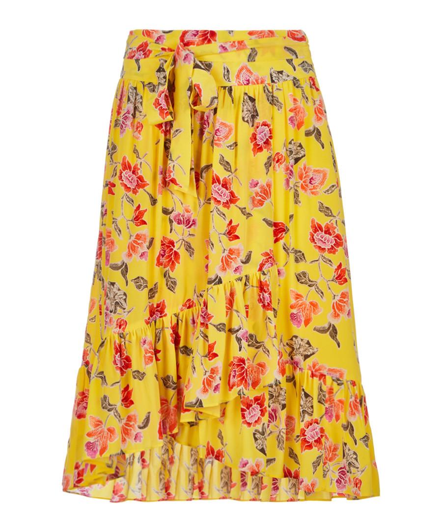 Denisha pineapple floral pure silk skirt Sale - JOIE