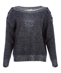 Gadelle midnight linen blend jumper
