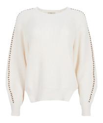 Daxton ivory cotton & cashmere jumper