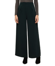 Katie deep green wide leg trousers