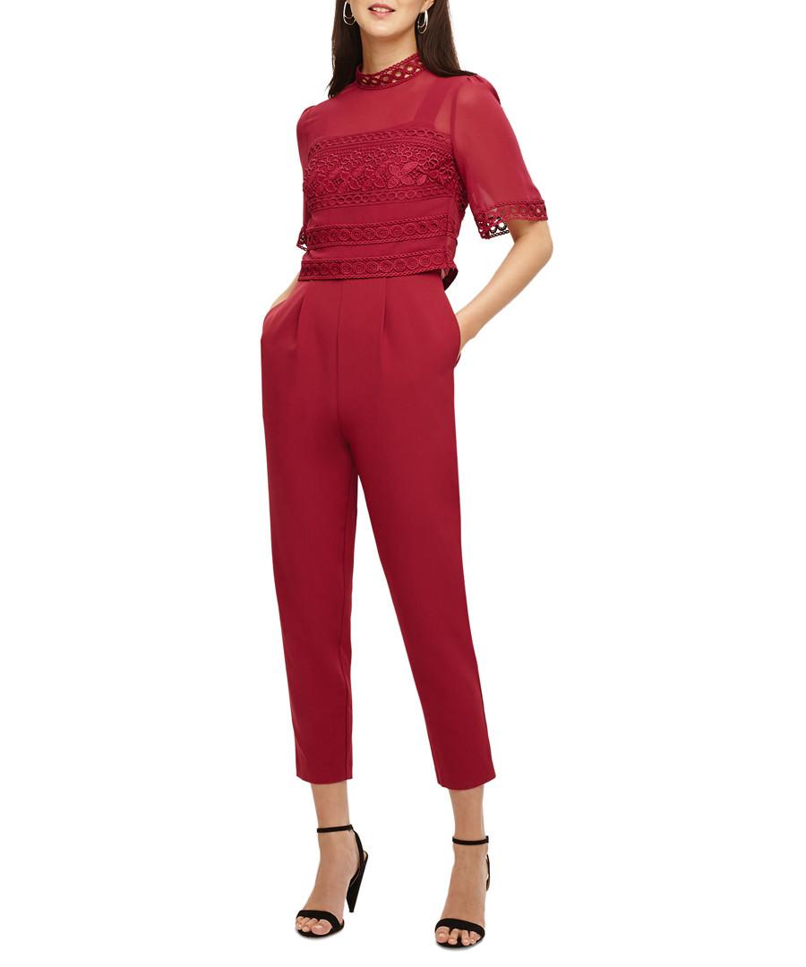 Ilia lipstick lace bodice jumpsuit Sale - phase eight