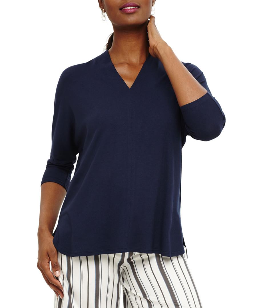 Vanessa navy V-neck blouse Sale - phase eight