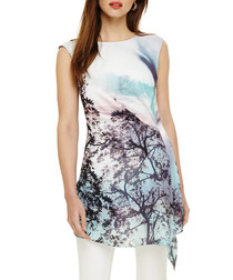 Quinby lilac wash tree scene tunic