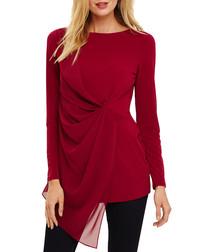 Valo garnet chiffon blouse