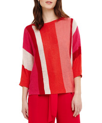 Delmi multi-colour linen stripe jumper