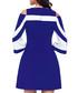 Sax blue & white cold-shoulder dress Sale - flora luna Sale