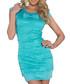 Turquoise lace bow dress Sale - flora luna Sale