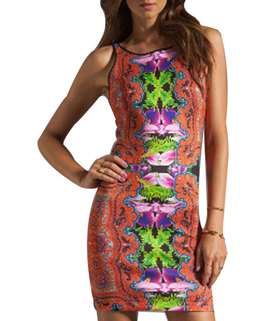 Kaleidoscope print sleeveless dress Sale - flora luna