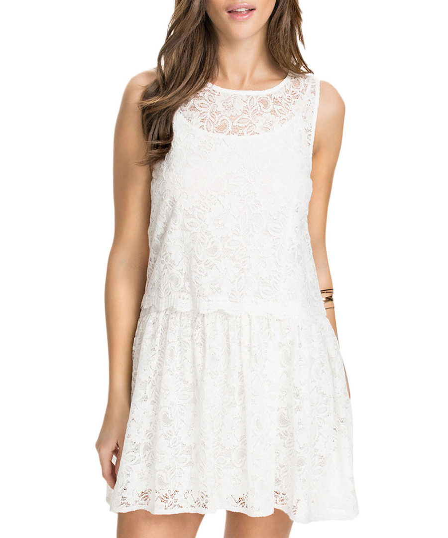 Ivory lace sleeveless dress Sale - flora luna