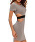 Grey cut-out belt dress Sale - flora luna Sale