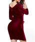 Wine velvet contour dress Sale - flora luna Sale