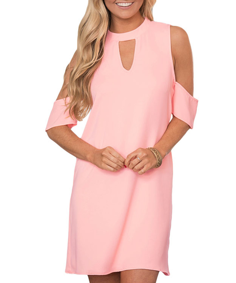 Powder pink cut-out dress Sale - flora luna