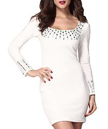 Chalk long sleeve embellished dress