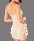 Dusty pink strapless ruffle dress Sale - flora luna Sale