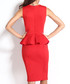 Red sleeveless ruffle dress Sale - flora luna Sale