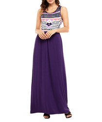 Fig aztec maxi dress
