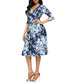 Marine floral wrap dress Sale - flora luna Sale