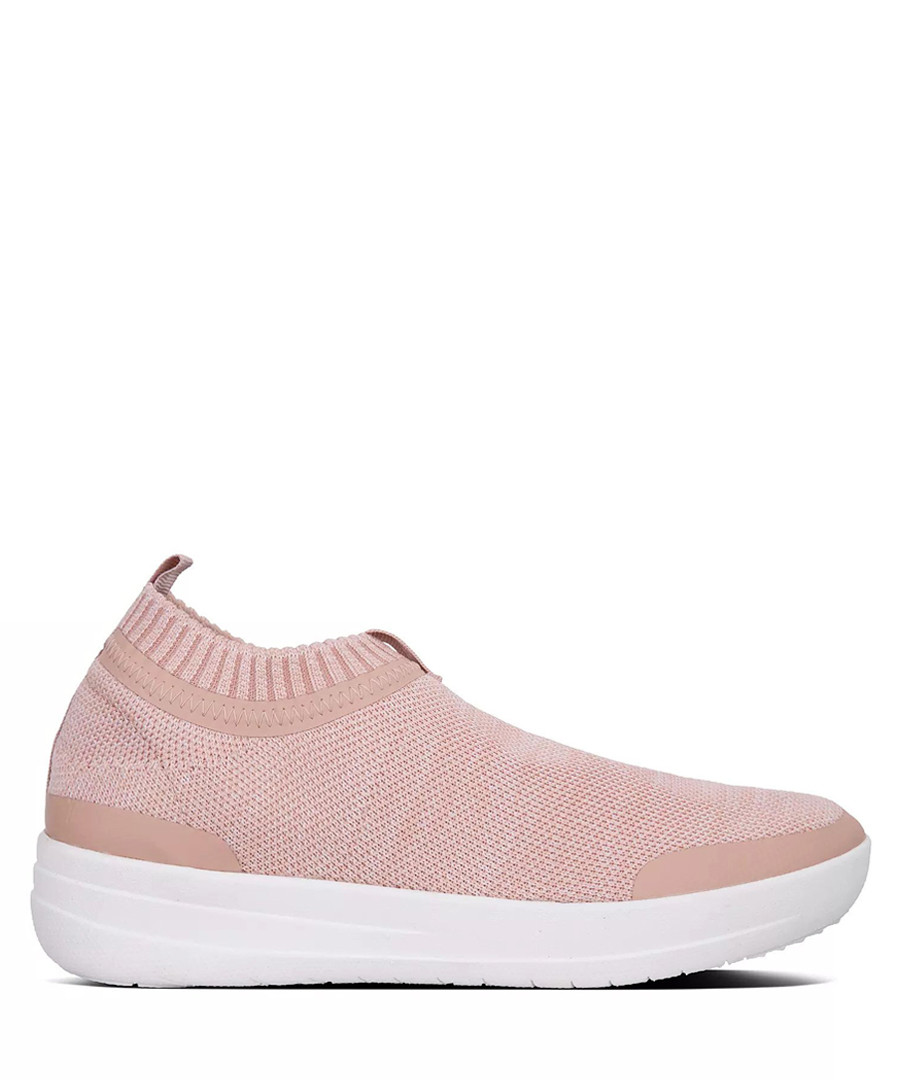 Pale pink knit slip-on sneakers Sale - fitflop