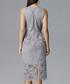 Grey lace peplum midi dress Sale - figl Sale